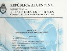 Apostillado De Documentos Argentinos Consulado General